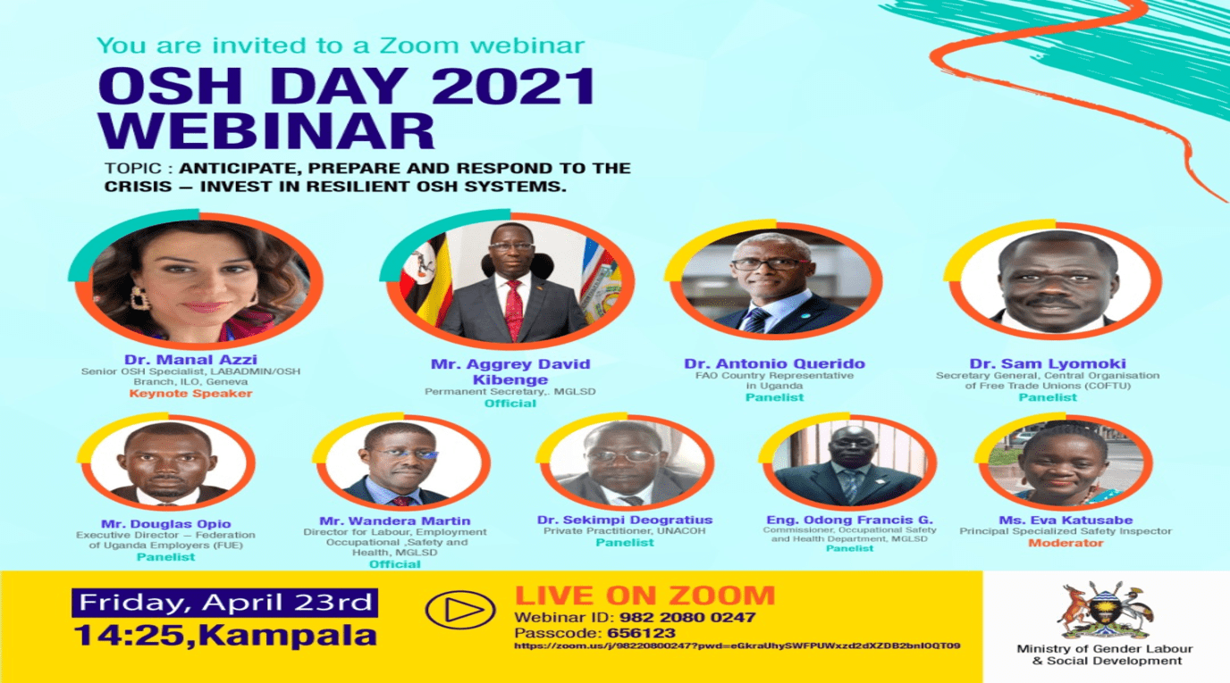 Occupational Safety and Health Day 2021 Webinar